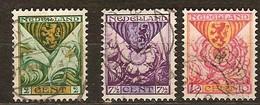Pays-Bas Nederland 1925 Yvertn° 162-164 (°) Oblitéré Used Cote 7,80 Euro - 1891-1948 (Wilhelmine)
