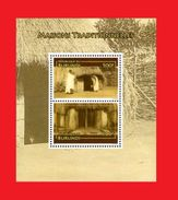 BURUNDI 2010 - HABITAT TRADITIONNEL TRADITIONAL HOUSING HOUSES HOUSE - RARE - S/S - MNH ** - Burundi