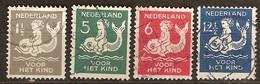 Pays-Bas Nederland 1929 Yvertn° 223-226 (°) Oblitéré Used Cote 18,00 Euro - 1891-1948 (Wilhelmine)