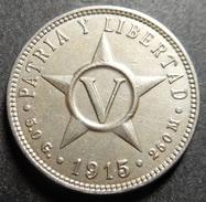 Cuba 5 Centavos 1915 Very High/Top Grade Rare! - Cuba