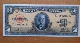 Cuba  50 Pesos 1960 AUNC - Cuba
