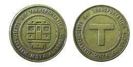 01042 GETTONE TOKEN JETON TRASPORTI METROPOLITANA TRANSI TRANSPORT MASSACHUSETTS BAY TRANSPORTATION AUTHORITY - Verenigde Staten