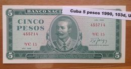 Cuba  5 Pesos 1988 UNC - Cuba