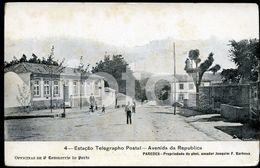 OLD POSTCARD ESTAÇAO TELEGRAFO POSTAL PAREDES PORTO PORTUGAL CARTE POSTALE - Porto