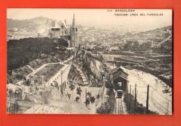 NEJ-30  Barcelona Tribado Linea Del Funicular. Used In 1910 - Barcelona