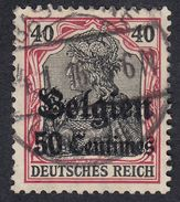 BELGIO BELGIE BELGIQUE - 1914/1918, Yvert 5 Occupazione Tedesca, 50 Cent, Usato - WW I