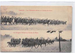 LUNEVILLE - Les Chasseurs Défilant Au Champ De Mars - Très Bon état - Luneville