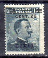 Libye Marsd 1916; Emanuel III.;  YT 19; Neuf *, Lot 48835 - Libya