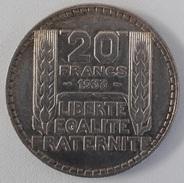 20 Francs Turin Argent 1933 - France