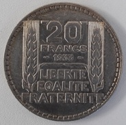 20 Francs Turin Argent 1933 - L. 20 Francs
