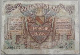 BADISCHE  BANK  10 000  ZEHNTAUSEND  MARK  1 April 1923 - [11] Emissions Locales