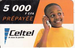 GABON - Little Boy, Celtel Prepaid Card 5000 Fcfa, Used - Gabon
