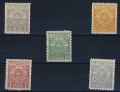 LUXEMBOURG    N° 1  /  5 - Telegraphenmarken