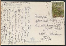 °°° 8169 - COLOMBIA - CARTAGENA - PUERTA DE LA INQUISICION - 1995 With Stamps °°° - Colombia