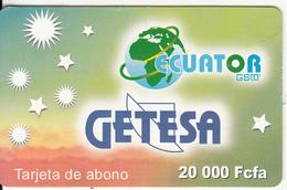 EQUATORIAL GUINEA - Getesa Prepaid Card 20000 Fcfa, Used - Equatorial Guinea