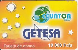 EQUATORIAL GUINEA - Getesa Prepaid Card 10000 Fcfa, Used - Equatorial Guinea