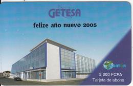 EQUATORIAL GUINEA - Building, Getesa Prepaid Card 3000 Fcfa, Used - Equatorial Guinea
