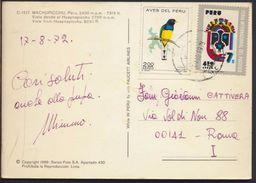 °°° 8173 - PERU - MACHUPICCHU - VISTA DESDE EL HUAYNAPICCHU - 1972 With Stamps °°° - Perù
