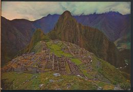 °°° 8175 - PERU - CUZCO - VISTA PANORAMICA DE MACHUPICCHU - 1973 With Stamps °°° - Perù