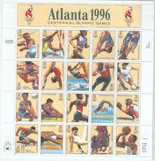 USA 1996 Scott 3068 1996 Atlanta Olympics Sheet,MLH* On Margin - Summer 1996: Atlanta