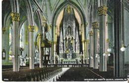 Inside St. Mary's Church, Lebanon, Pennsylvania - United States
