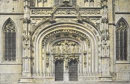 Bourg - Eglise De Brou, Le Grand Portail - Edition L.V. & Cie - Carte Aqua Photo N° 1395 - Eglise De Brou