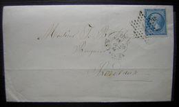 1866 Paris (Etoile)  Lettre Pour Bordeaux - Marcophilie (Lettres)