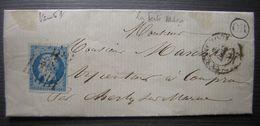 1857 La Ferté Millon Origine Rurale (OR) Cachet O.P.F 974 Sur Le Texte - Marcophilie (Lettres)