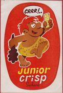 Sticker Autocollant Aufkleber Junior Crisp Suchard Biscuit Holbewoner Caveman Oermens Oertijd Prehistory - Stickers