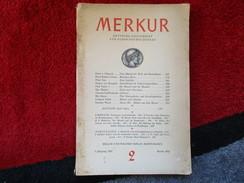 """Merkur """"Deutsche Zeitschrift Für Europäisches Denken"""" / éditions De 1947 - Livres, BD, Revues"""