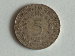 ALLEMAGNE 5 MARK 1951 J ARGENT SILVER Germany Deutschland - 5 Mark
