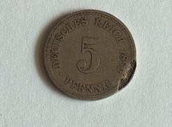 ALLEMAGNE 5 Pfennig 1890 Germany Deutschland - [ 2] 1871-1918 : Imperio Alemán