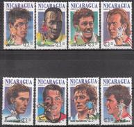 NICARAGUA    SCOTT NO. 2042 A-H    USED     YEAR  1994 - Nicaragua