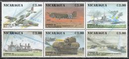 NICARAGUA    SCOTT NO. 2045 A-F    USED     YEAR  1994 - Nicaragua