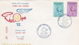 Turkey 1966 FDC Europa CEPT (DD6-22) - Europa-CEPT