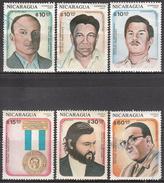 NICARAGUA    SCOTT NO. 1574-79     USED     YEAR  1987 - Nicaragua