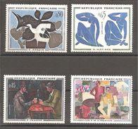 France, Yvert N° 1319/1322 *neuf  Avec Charnières - Francia