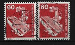 BERLIN - Mi-Nr. 582 X 2 Freimarken Industrie Und Technik Gestempelt - [5] Berlin