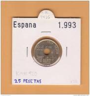 ESPAÑA /JUAN CARLOS I    25  PESETAS  Niquel-Bronce  1.993  KM#920  SC/UNC     DL-9435 - 25 Pesetas
