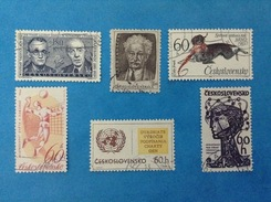 CECOSLOVACCHIA CESKOSLOVENSKO LOTTO DA 6 FRANCOBOLLI USATI STAMPS USED (30a) - Czechoslovakia