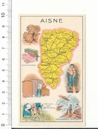 Carte Géographique Département Aisne Moy Oulchy Charly Sains Guise Rohain Vailly Corbény Bohain Marie Wignéhies 5/142B - Old Paper