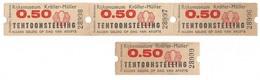 Kröller-Müller Oude Toegangsbewijzen 4 Stuks - Toegangskaarten