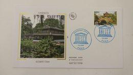 FRANCE FDC Enveloppe SOIE 1er Jour UNESCO SUZHOU Chine 2009 - Timbre Poste - 2000-2009