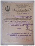- FRANCE - Facture SECHERIES DE MORUES Jean LACOSTE & Fils, BEGLES (Gironde) 18.3.1957 - - Alimentaire