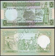 Syria P 100 D - 5 Pounds 1988 - UNC - Siria