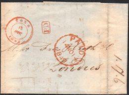 Belgique Angleterre - Précurseur - 1849 - Mons - Londres - PD - Avec Contenu - 1830-1849 (Belgique Indépendante)