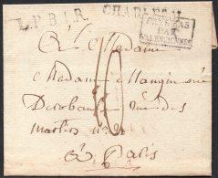 Belgique France - Précurseur - 1826 - Charleroi - Paris - Pays Bas Par Valenciennes - Sans Contenu - 1815-1830 (Holländische Periode)