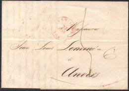 Belgique - Précurseur - 1840 - Verviers - Anvers - Avec Contenu - 1830-1849 (Belgique Indépendante)