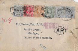 BRITISH COLONIES → Sierra Leone 1912  Registered Letter To Michigan - Sierra Leone (...-1960)