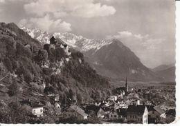 VADUZ - LE CHATEAU ET LA VILLE  - CIRCULEE - ANNEE ILLISIBLE ! - Liechtenstein